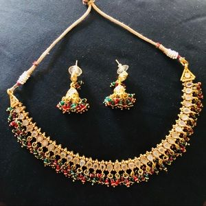 Jewelry - beautiful antique indian necklace and earrings